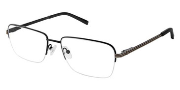 Shiny Black Gun Superflex Titan SF-1117T Eyeglasses.