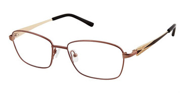 Brown Gold Superflex Titan SF-1104T Eyeglasses.