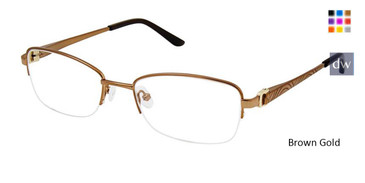 Brown Gold Superflex Titan SF-1111T Eyeglasses