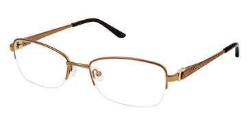 Brown Gold Superflex Titan SF-1111T Eyeglasses.