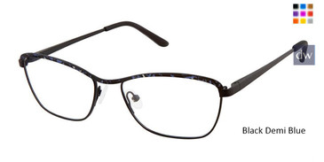 Black Demi Blue Superflex Titan SF-1112T Eyeglasses