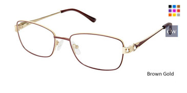 Brown Gold Superflex Titan SF-1114T Eyeglasses