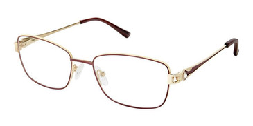 Brown Gold Superflex Titan SF-1114T Eyeglasses.