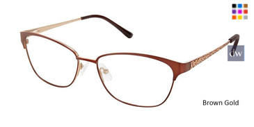 Brown Gold Superflex Titan SF-1115T Eyeglasses