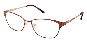 Brown Gold Superflex Titan SF-1115T Eyeglasses.