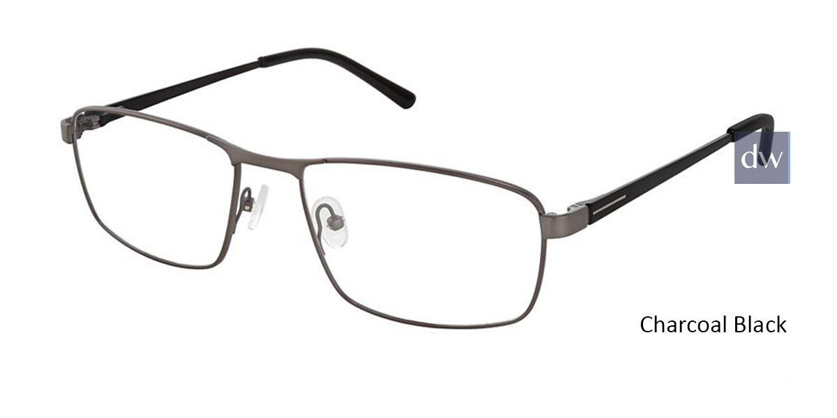 Charcoal Black Superflex Titan SF-1116T Eyeglasses