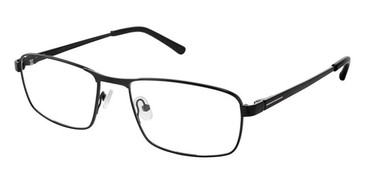 Black Superflex Titan SF-1116T Eyeglasses.