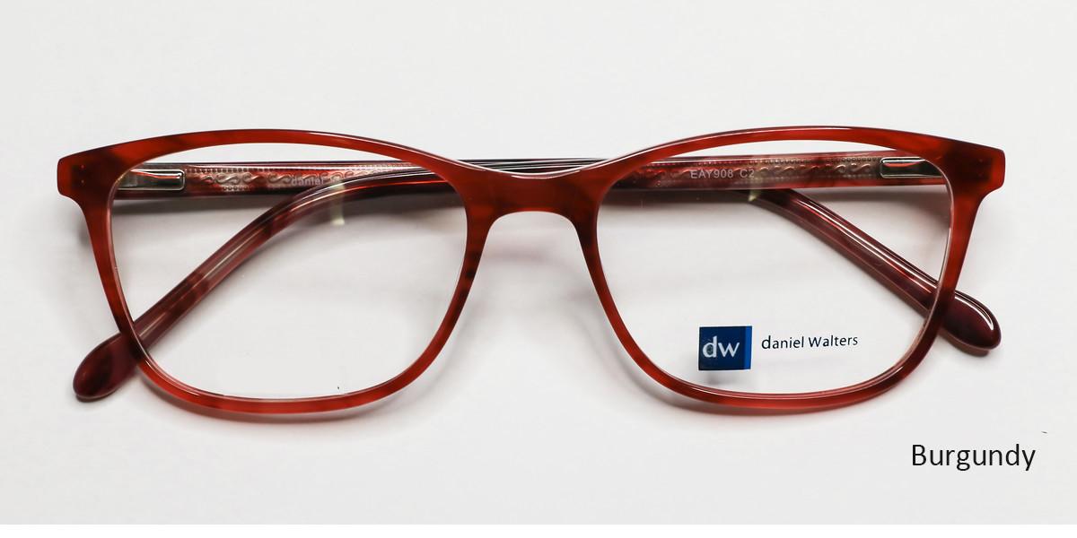 Burgundy Daniel Walters EAY906 Eyeglasses