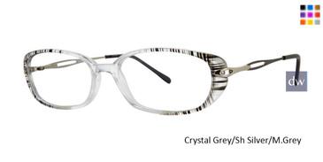 Crystal Grey/Sh Silver/M.Grey Vivid Dynasty 60 Eyeglasses.