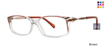 Brown Vivid Dynasty 62 Eyeglasses.