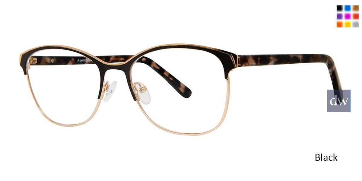 Black Vivid Expressions 1128 Eyeglasses.