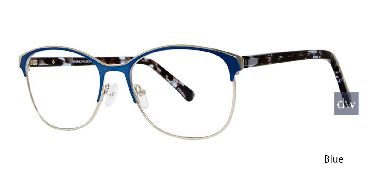 Blue Vivid Expressions 1128 Eyeglasses.