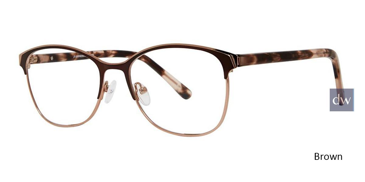 Brown Vivid Expressions 1128 Eyeglasses.