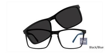 Black/Blue Vivid Collection 6012 Sunglasses.