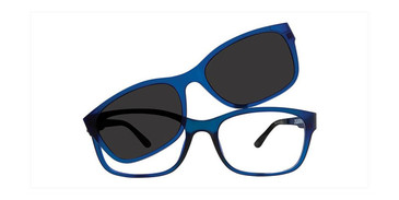 Blue Vivid Collection 6014 Eyeglasses.