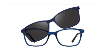 Crystal Blue Vivid Collection 6015 Eyeglasses - Teenager.