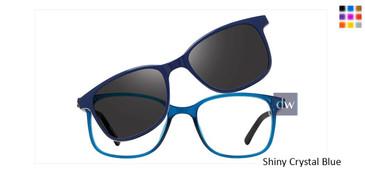 Shiny Crystal Blue  Vivid Collection 6018 Eyeglasses.