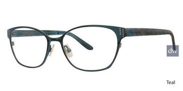 Teal Vera Wang Annah Eyeglasses.