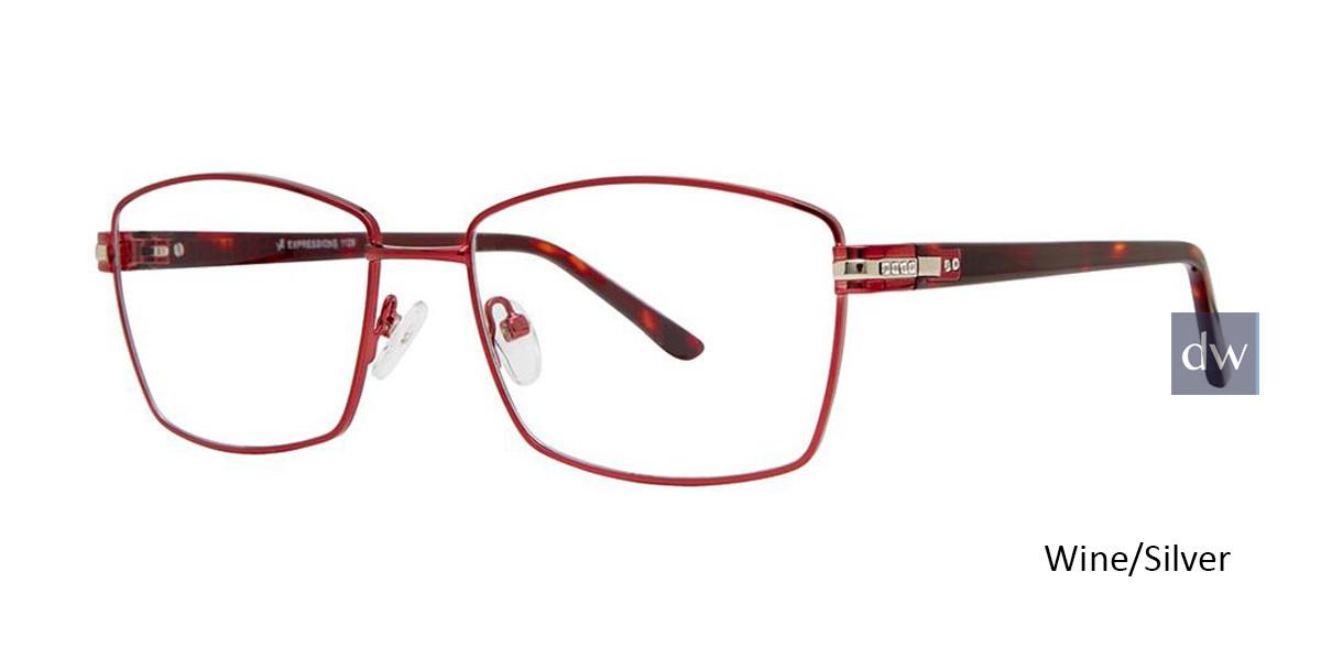Wine/Silver Vivid Expressions 1129 Eyeglasses.