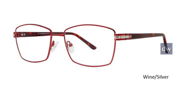 Wine/Silver Vivid Expressions 1129 Eyeglasses.