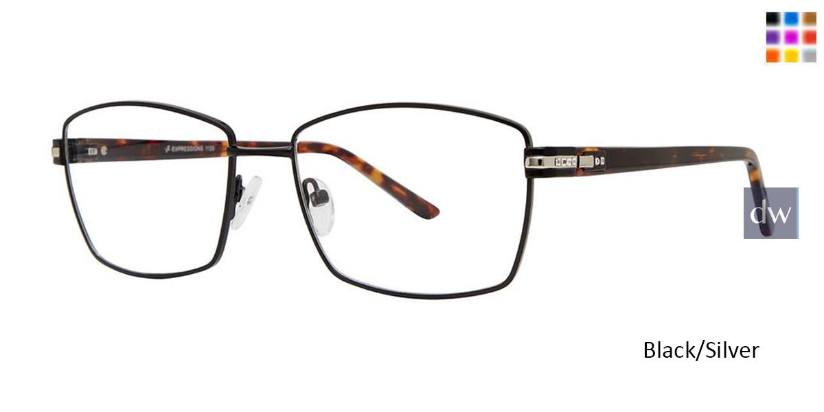 Black/Silver Vivid Expressions 1129 Eyeglasses.