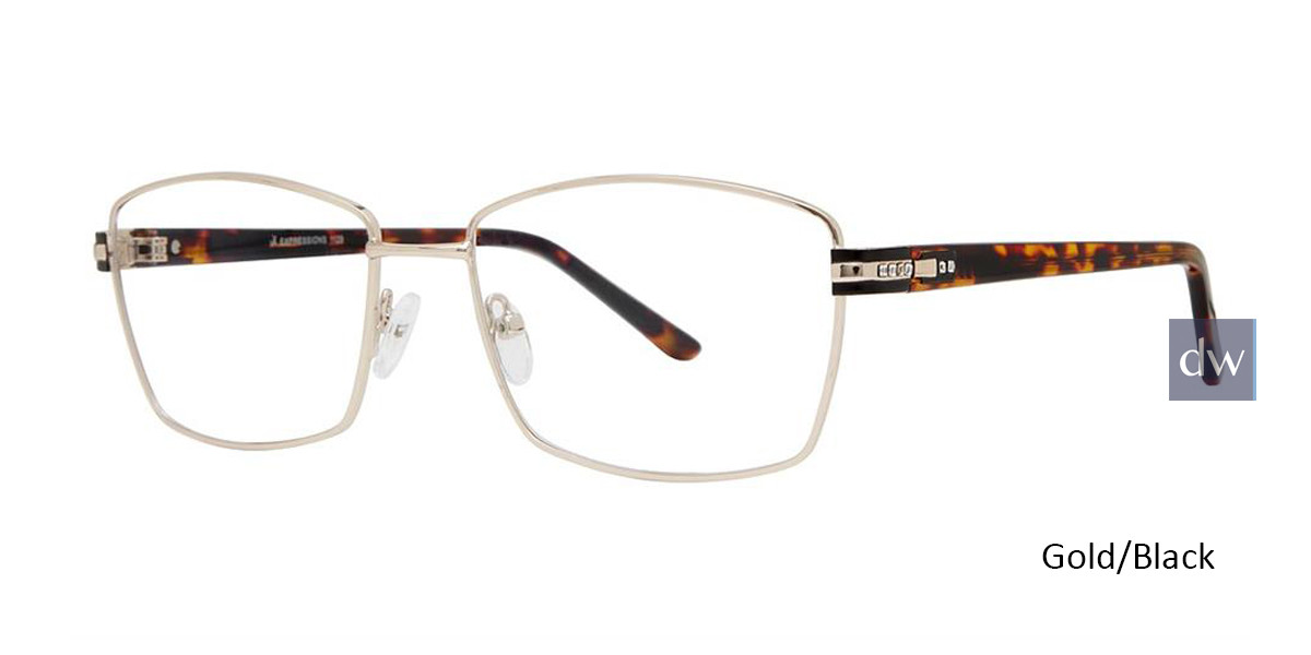 Gold/Black Vivid Expressions 1129 Eyeglasses.