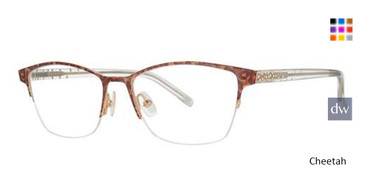 Cheetah Vera Wang Belle Eyeglasses.