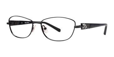 Black Vera Wang Diaphanous Eyeglasses.