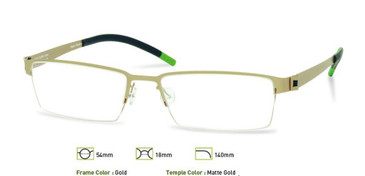 Gold Free Form FFA901 Eyeglasses