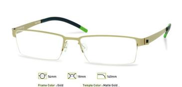 Gold Free Form FFA901 Eyeglasses