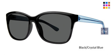 Black Crystal/Blue Vivid Retro Shades 6 Sunglasses.
