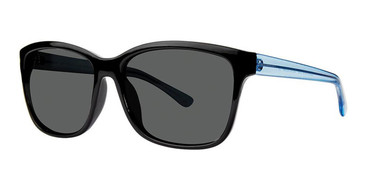 Black Crystal/Blue Vivid Retro Shades 6 Sunglasses.