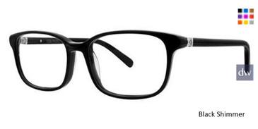Black Shimmer Vera Wang Geovanna Eyeglasses.