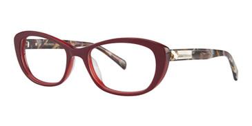 Crimson Vera Wang Gilia Eyeglasses.