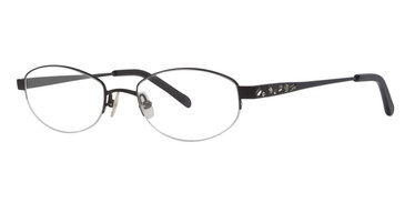Black Satin Vera Wang Glitter Eyeglasses.