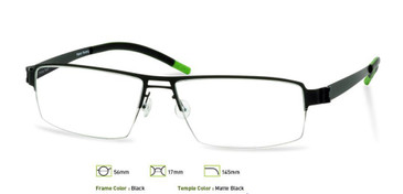 Black, Free-Form FFA903 Eyeglasses