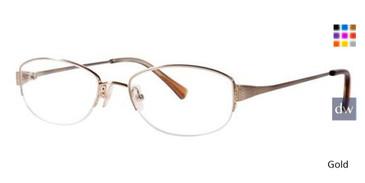 Gold Vera Wang Iridescence Eyeglasses.