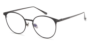 Black/Gunmetal Capri AGO MF90005 Eyeglasses