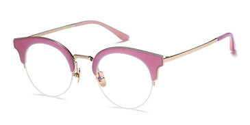 Pink/Gold Capri AGO 1018 Eyeglasses - Teenager