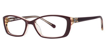 Burgundy Vera Wang Lissome Eyeglasses.