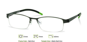 Dark Gunmetal, Free-Form FFA906 Eyeglasses