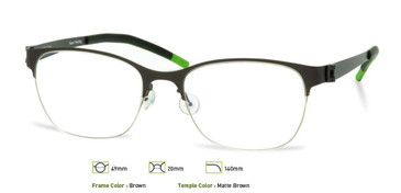 Brown, Free-Form FFA907 Eyeglasses - Teenager