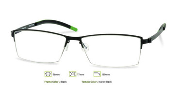Black, Free-Form FFA908 Eyeglasses