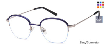 Blue/Gunmetal Capri M4084 Eyeglasses