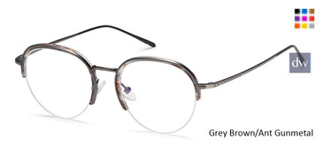 Grey Brown/Ant Gunmetal Capri M4043 Eyeglasses