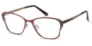 Gold/Brown/Copper Capri Menizzi M4058 Eyeglasses.