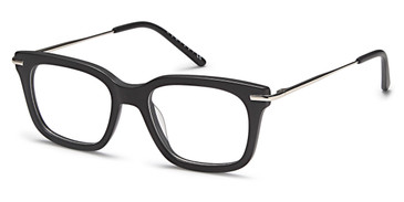 Black/Silver Capri Menizzi M4016 Eyeglasses - Teenager.