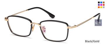 Black/Gold Capri M4032 Eyeglasses