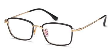 Black/Gold Capri Menizzi M4032 Eyeglasses.