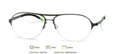 Dark Gunmetal, Free-Form FFA911 Eyeglasses